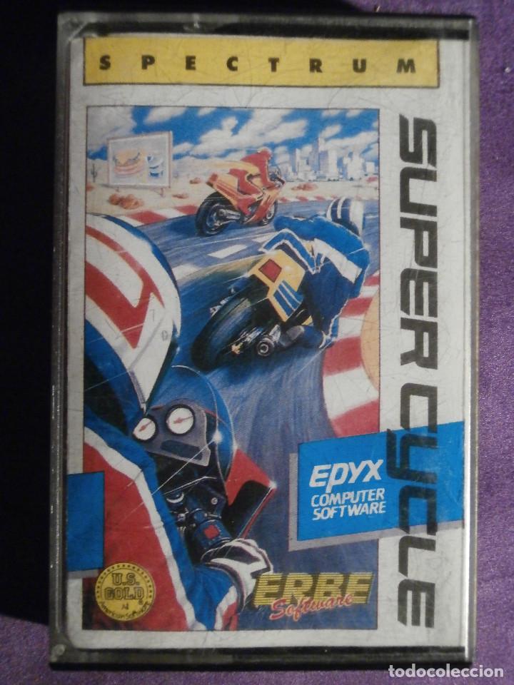 JUEGO ZX SPECTRUM Y COMPATIBLES - SUPER CYCLE - ERBE - 1987 - (Juguetes - Videojuegos y Consolas - Spectrum)