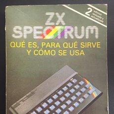 Videojuegos y Consolas: LIBRO MANUAL DEL USUARIO - INSTRUCCIONES - DEL ORDENADOR ZX SPECTRUM SINCLAIR. Lote 62744260