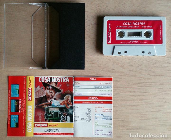 Videojuegos y Consolas: Cosa Nostra / Juego Spectrum Cinta / Español / Opera Soft 1986 - Foto 2 - 54120748