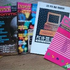 Videojuegos y Consolas: LOTE DE REVISTAS INPUT COMMODORE SPECTRUM AÑOS 80S. Lote 62757920