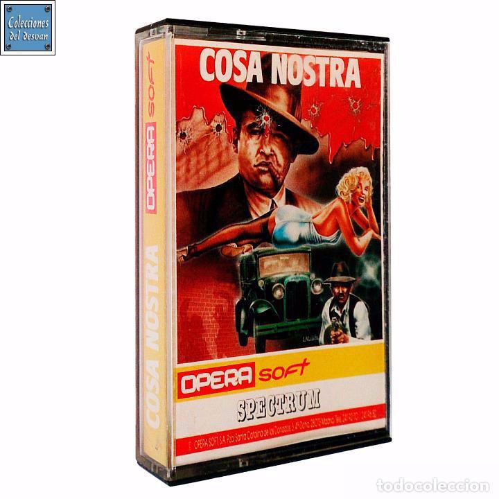COSA NOSTRA / JUEGO SPECTRUM CINTA / ESPAÑOL / OPERA SOFT 1986 (Juguetes - Videojuegos y Consolas - Spectrum)