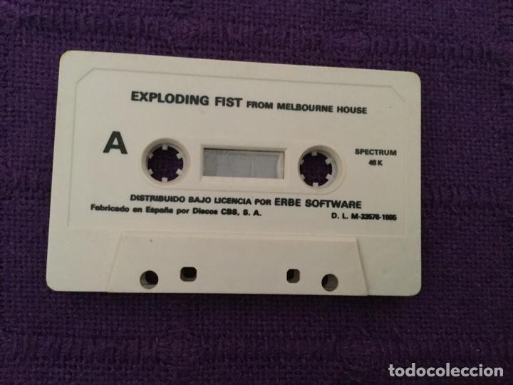 EXPLODING FIST FROM MELBOURNE HOUSE - ERBE SOFTWARE ZX SPECTRUM ZXSPECTRUM DISCOS CBS (Juguetes - Videojuegos y Consolas - Spectrum)