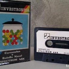 Jeux Vidéo et Consoles: CARAMELOS Y BATALLA NAVAL INVESTRONICA SPECTRUM 48K. Lote 132600818
