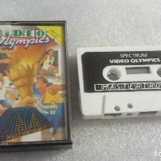 Videojuegos y Consolas: VIDEO OLIMPICS JUEGO CASSETTE CINTA SPECTRUM SINCLAIR ZX 48K 128K. Lote 68286241