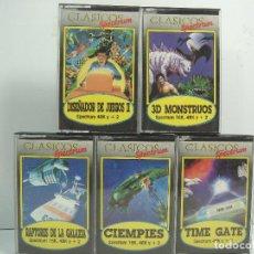 Videojuegos y Consolas: LOTE 5X VIDEO JUEGO - SPECTRUM CLASICOS - CIEMPIES-RAPTORES DE LA GALAXIA-TIME GATE-MICROBYTE. Lote 71513839