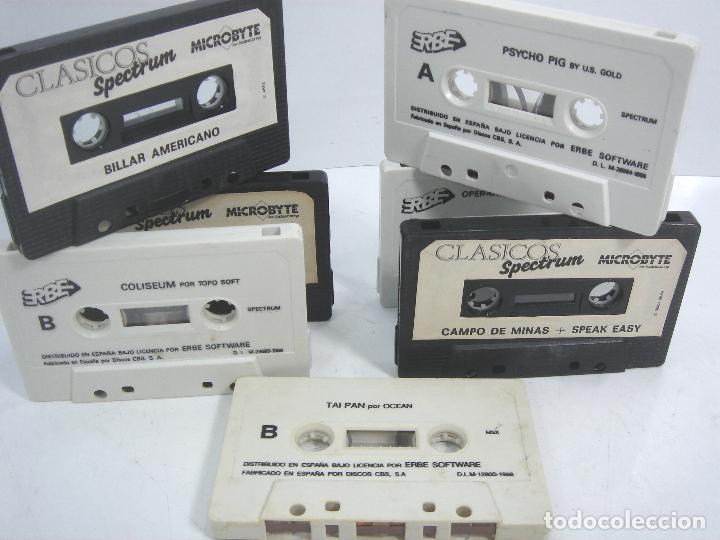 LOTE 8X VIDEO JUEGO - SPECTRUM-MSX- SIN CARATULA -TAI PAN-PSYCHO PIG-PANIC-BILLAR-COLISEUM-TITANIC.. (Juguetes - Videojuegos y Consolas - Spectrum)