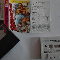 Videojuegos y Consolas: ANTIGUO VIDEOJUEGO SPECTRUM INDIANA JONES ESPAÑOL INSTRUCCIONES VER MÁS EN VENTA. Lote 73038107