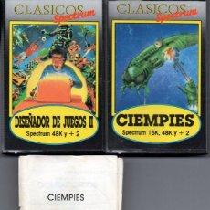 Videojuegos y Consolas: CLÁSICOS SPECTRUM: CIEMPIÉS Y DISEÑADOR DE JUEGOS II. Lote 79537553
