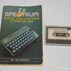 Videojuegos y Consolas: LIBRO GUÍA ZX SPECTRUM LIBRO Y CINTA. Lote 80909360