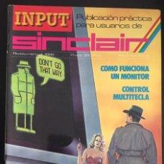Videojuegos y Consolas: REVISTA INPUT SINCLAIR AÑO 1 NUMERO Nº 9. Lote 82299124