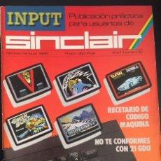 Videojuegos y Consolas: REVISTA INPUT SINCLAIR AÑO 1 NUMERO Nº 10. Lote 82299148