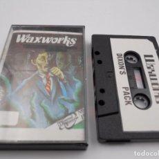 Jeux Vidéo et Consoles: JUEGO CASSETTE WAXWORKS SPECTRUM SINCLAIR ZX 48 128K.COMBINO ENVIO.MUY RARO. Lote 86406780