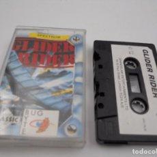 Videojuegos y Consolas: JUEGO CASSETTE GLIDER RIDER SPECTRUM SINCLAIR ZX 48 128K.COMBINO ENVIO.. Lote 86409896