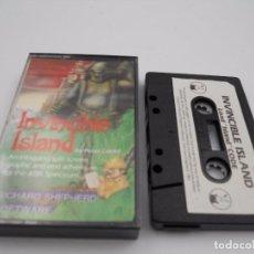Jeux Vidéo et Consoles: JUEGO CASSETTE INVINCIBLE ISLAND SPECTRUM SINCLAIR ZX 16 48 128K.COMBINO ENVIO. Lote 86410108