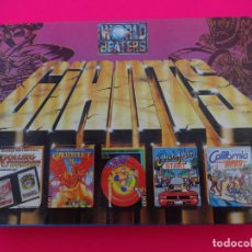 Videojuegos y Consolas: PACK WORLD BEATERS GIANTS ROLLING THUNDER GAUNTLET II 720º 720 GRADOS OUT RUN CALIFORNIA SPECTRUM. Lote 86763776