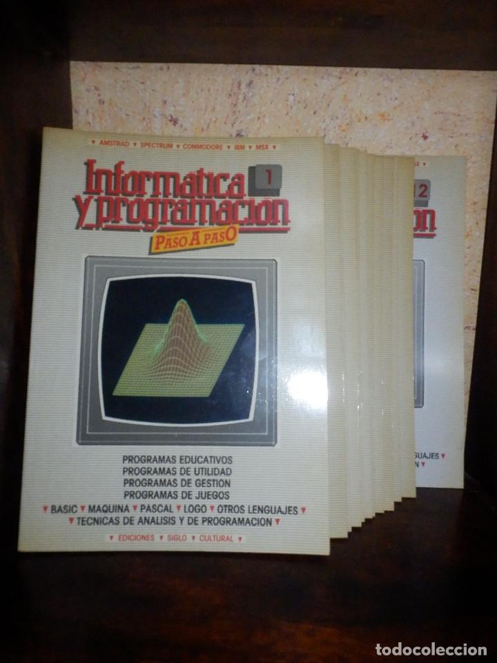 INFORMÁTICA PASO A PASO - 12 NÚMEROS DEL 1 AL 12 - BASIC - SPECTRUM . Z80 - PASCAL - EDICIONES SIGLO (Juguetes - Videojuegos y Consolas - Spectrum)