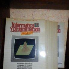 Videojuegos y Consolas: INFORMÁTICA PASO A PASO - 12 NÚMEROS DEL 1 AL 12 - BASIC - SPECTRUM . Z80 - PASCAL - EDICIONES SIGLO. Lote 86976596