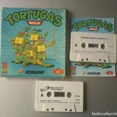 Videojuegos y Consolas: TORTUGAS NINJA KONAMI 1990 CASSETTE ESPECTRUM Y NINJA COLLECTION ERBE 1992. Lote 87041656
