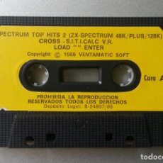Videojuegos y Consolas: SPECTRUM TOP HITS 2 CROSS S.I.T.I.CALC V.R. VENTAMATIC SOFT 1985 SIN CAJA. Lote 87124316