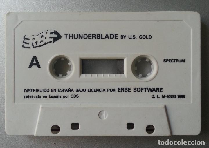 THUNDERBLADE BY US GOLD SPECTRUM CASSETTE ERBE SOFTWARE SIN CAJA (Juguetes - Videojuegos y Consolas - Spectrum)