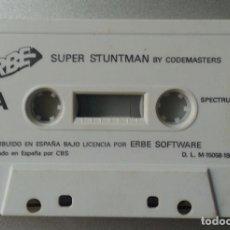 Videojuegos y Consolas: SUPER STUNTMAN BY CODEMASTERS SPECTRUM CASSETTE ERBE SOFTWARE 19989 SIN CAJA. Lote 87124884