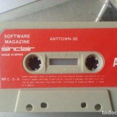 Videojuegos y Consolas: ESPECTRUM CASSETTE ANTTOWN 3D MAGAZINE SINCLAIR Nº C - 2 - A SIN CARATULA. Lote 87136208