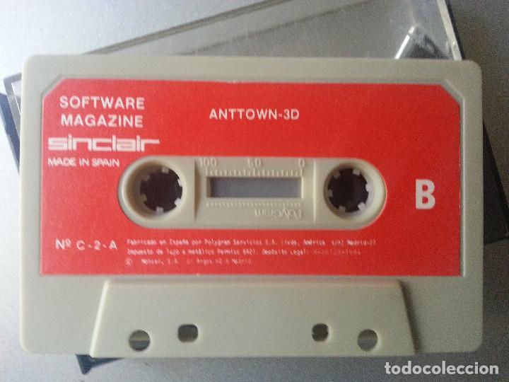 Videojuegos y Consolas: ESPECTRUM CASSETTE ANTTOWN 3D MAGAZINE SINCLAIR Nº C - 2 - A SIN CARATULA - Foto 2 - 87136208