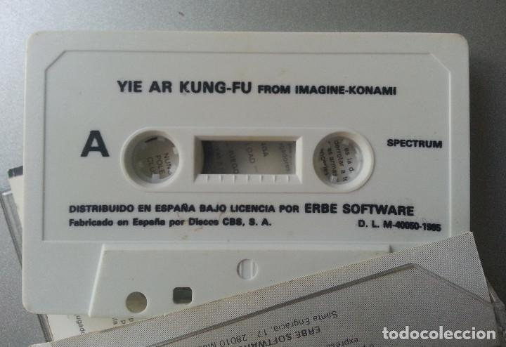 Videojuegos y Consolas: YIE AR KUNG - FU SPECTRUM CASSETTE ERBE SOFTWARE - Foto 2 - 87298112