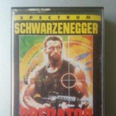 Videojuegos y Consolas: PREDATOR SPECTRUM CASSETTE SWARZENEGGER ERBE BY HIT SQUAT 1989. Lote 87301192