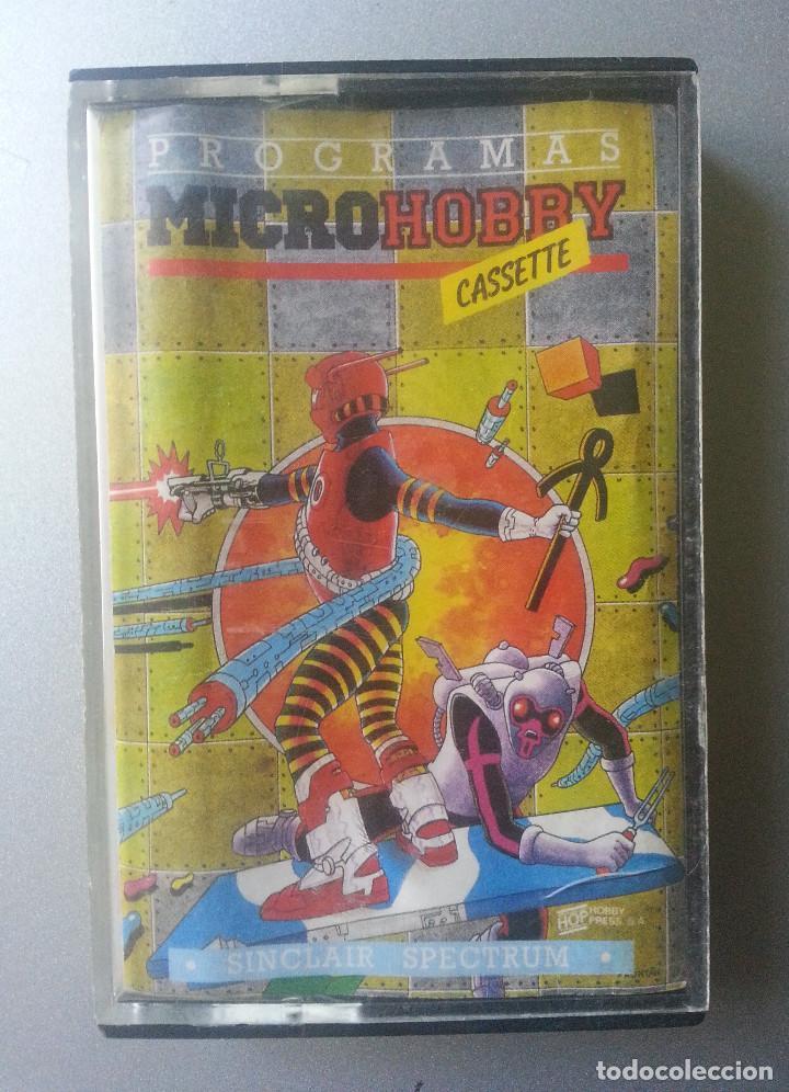 PROGRAMAS MICROHOBBY SPECTRUM SINCLAIR CASSETTE AÑO 1 NUM 1 1985 (Juguetes - Videojuegos y Consolas - Spectrum)