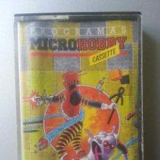 Videojuegos y Consolas: PROGRAMAS MICROHOBBY SPECTRUM SINCLAIR CASSETTE AÑO 1 NUM 1 1985. Lote 87301780