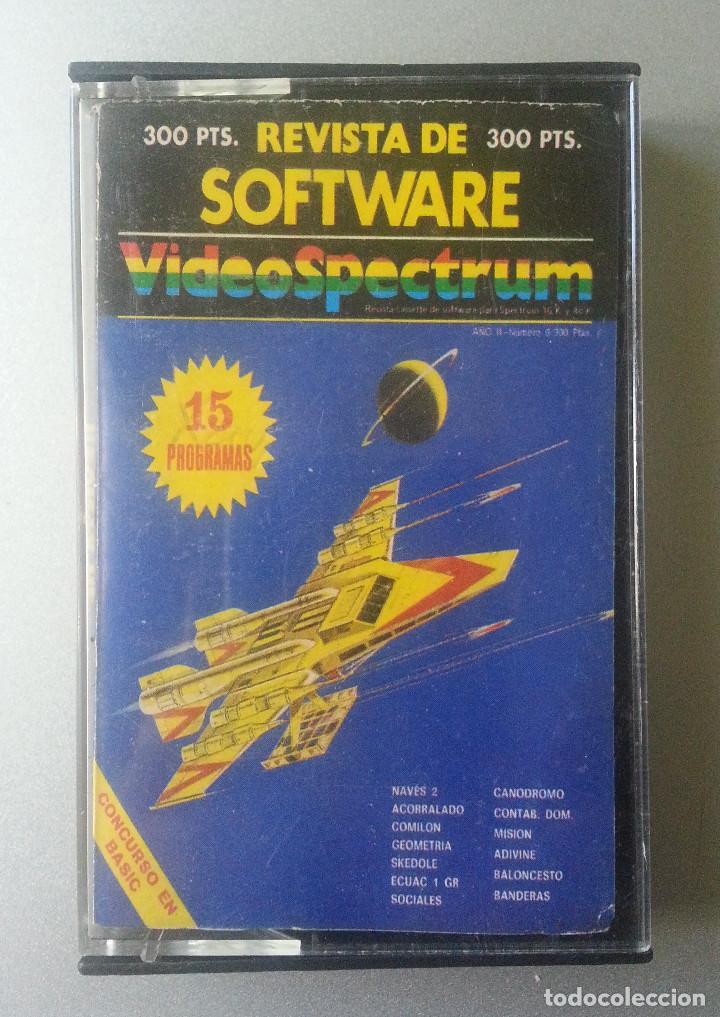 REVISTA DE SOFTWARE VIDEOSPECTRUM Nº 6 - 15 PROGRAMAS SPECTRUM CASSETTE 1985 (Juguetes - Videojuegos y Consolas - Spectrum)