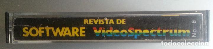 Videojuegos y Consolas: REVISTA DE SOFTWARE VIDEOSPECTRUM Nº 6 - 15 PROGRAMAS SPECTRUM CASSETTE 1985 - Foto 2 - 87480120