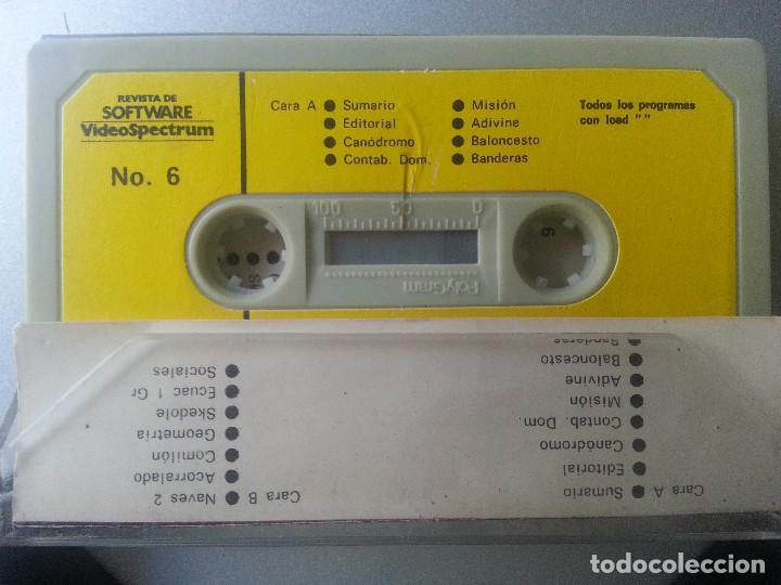 Videojuegos y Consolas: REVISTA DE SOFTWARE VIDEOSPECTRUM Nº 6 - 15 PROGRAMAS SPECTRUM CASSETTE 1985 - Foto 4 - 87480120