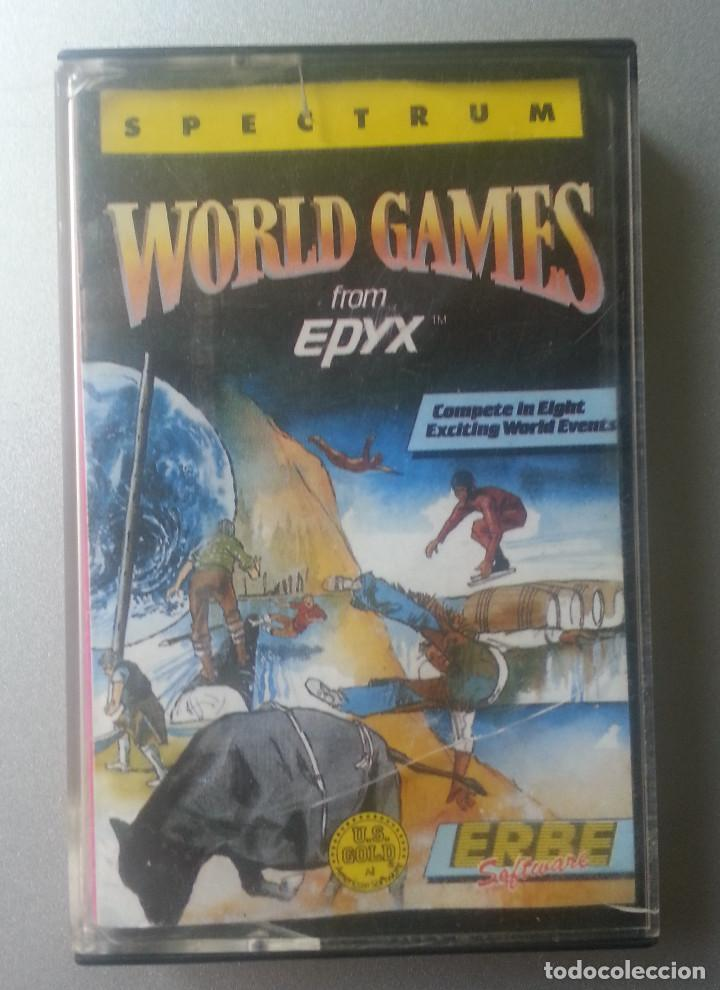 WORLD GAMES FROM EPYX CASSETTE SPECTRUM ERBE 1987 (Juguetes - Videojuegos y Consolas - Spectrum)