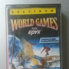 Videojuegos y Consolas: WORLD GAMES FROM EPYX CASSETTE SPECTRUM ERBE 1987. Lote 88755164