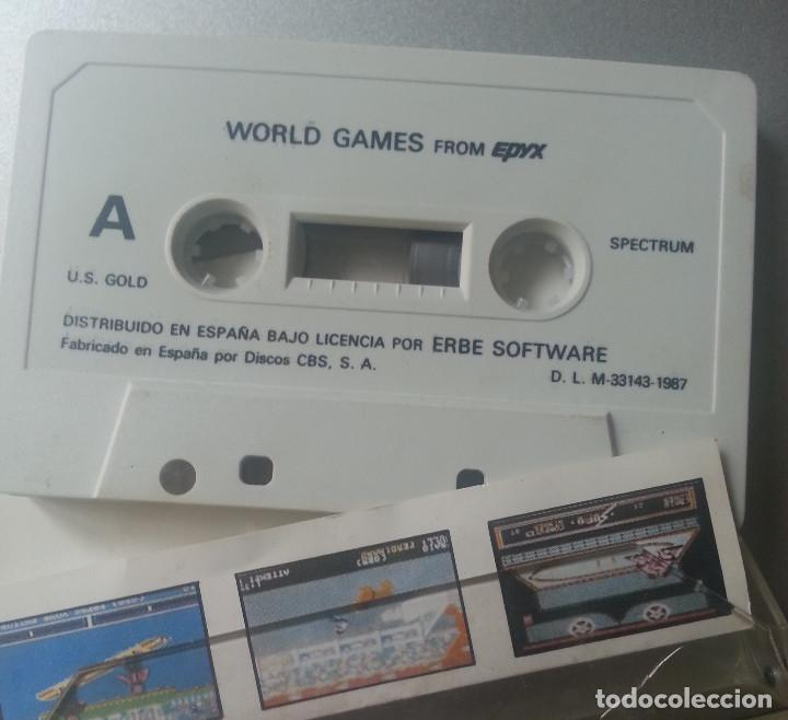 Videojuegos y Consolas: WORLD GAMES FROM EPYX CASSETTE SPECTRUM ERBE 1987 - Foto 2 - 88755164