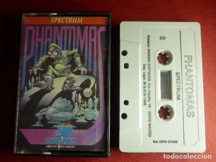 JUEGO ZX SPECTRUM Y COMPATIBLES - PHANTOMAS - DINAMIC - 1986 (Juguetes - Videojuegos y Consolas - Spectrum)