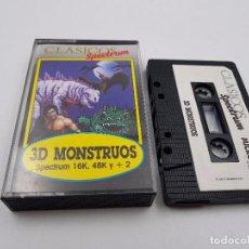 Videojuegos y Consolas: JUEGO CASSETTE 3D MONSTRUOS 16K 48K +2 SINCLAIR ZX SPECTRUM.COMBINO ENVIO. Lote 94208590