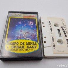 Jeux Vidéo et Consoles: JUEGO CASSETTE CAMPO DE MINAS +SPEAK EASY SINCLAIR ZX SPECTRUM.COMBINO ENVIO. Lote 94208820