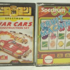 Videojuegos y Consolas: SPECTRUM -WAR CARS CONSTRUCTION SET MCM + FRUIT MACHINE MONSER - -VIDEO JUEGO CASETE CASSETTE. Lote 98196207
