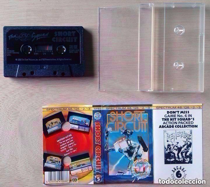 Videojuegos y Consolas: Short Circuit / Cortocircuito / Juego Spectrum Cinta / The Hit Squad 1987 - Foto 2 - 98849619