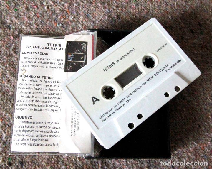 Videojuegos y Consolas: Juego 48 K Sinclair ZX Spectrum - Tetris - MCM Software - Año 1989 - Foto 2 - 100942563