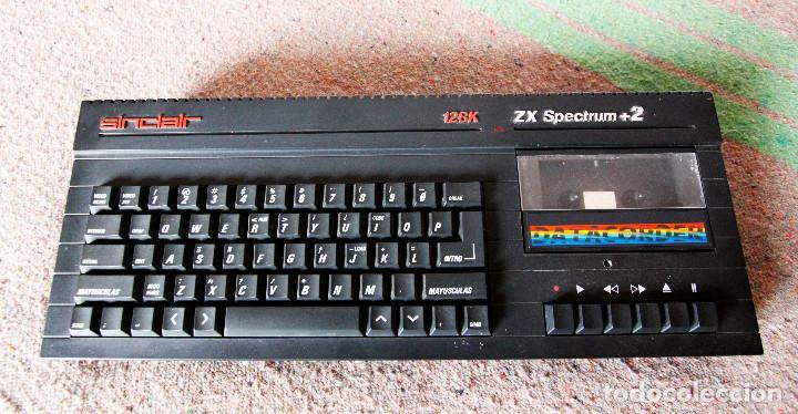 Videojuegos y Consolas: Ordenador ZX Spectrum + 2 128k - Con fuente de alimentación original y joystick - Años 80 - Foto 5 - 100944295