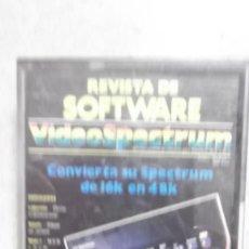 Videojuegos y Consolas: JUEGO CASETE CASSETTE ORIGINAL SPECTRUM REVISTA DE SOFTWARE VIDEOSPECTRUM. Lote 108357031