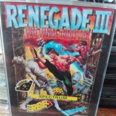 Videojuegos y Consolas: RENEGADE 3 SPECTRUM. Lote 109755952