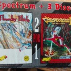 Videojuegos y Consolas: TRUNDER BLADE +CIBERNOID2 SPECTRUM+3. Lote 109747811