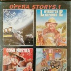 Videojuegos y Consolas: PACK OPERA STORYS. 1. CONTIENE THE LAST MISSION. LIVINGSTONE SUPONGO. COSA NOSTRA. GOODY. SPECTRUM.. Lote 111114190