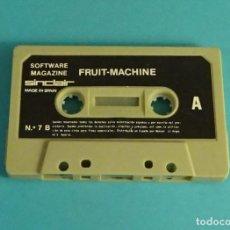 Videojuegos y Consolas: FRUIT - MACHINE. SOFTWARE MAGAZINE. SINCLAIR. Nº 7 B. SOLO CASETE, SIN CARÁTULA. Lote 115964675
