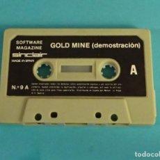Videojuegos y Consolas: GOLD MINE. SOFTWARE MAGAZINE. SINCLAIR. Nº 9 B. SOLO CASETE, SIN CARÁTULA. Lote 115972731